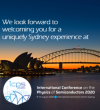 One year to ICPS 2020 in Sydney, Australia