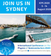 One year to ICPS 2020 in Sydney